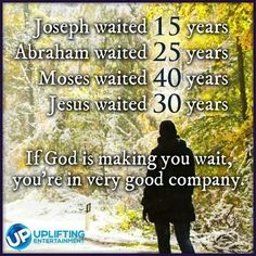 Waiting for God's blessing is very hard but very possible at the same time. It takes faith to trust him even though we may not see the path we're walking on.