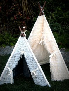 lace ruffle teepee tent photo prop