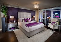 Minimalis Decor - Purple and Gold Bedrooms