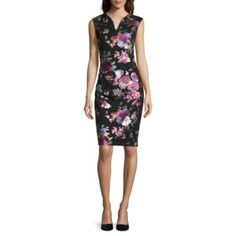 Weslee Rose Short Sleeve Bodycon Dress - JCPenney