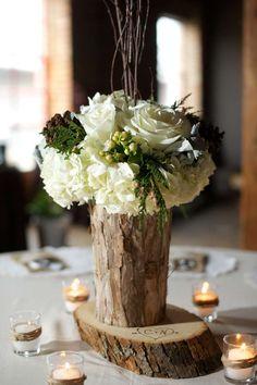 Centrotavola in legno per il matrimonio (Foto 12/40) | Donna