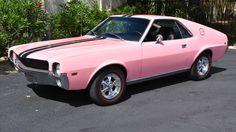 Playboy Pink! 1969 American Motors AMX 390 Color Code 00 - http://barnfinds.com/playboy-pink-1969-american-motors-amx-390-color-code-00/