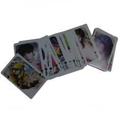 Play cards with your friends and your favorites Korean KPOP idols, SHINee!    KPOP SHINee Playing Cards are the perfect gift for all people in love with South Korea and KPOP, they are illustrated with pictures of your favorites Korean stars SHINee.    Dimensions: 6.5 x 9.5 cm  Made in Korea  52 cards