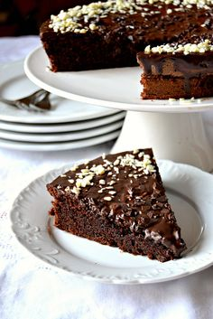 Torta al cioccolato e yogurt greco             Chocolate cake with greek yogurt