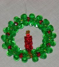 Bead and Pipe Cleaner Ornaments | Kids' Crafts - Christmas Wreaths at StorkNet's Crafts for Kids Cubby!
