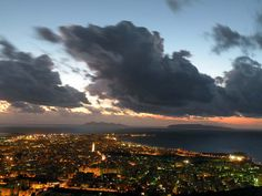 Veduta notturna di Trapani. My maternal 2nd great grandparents are from here :)