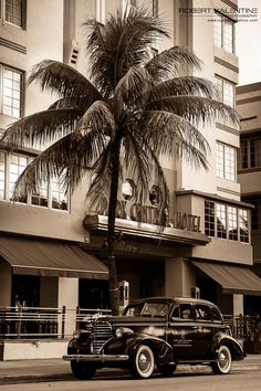 Ocean Drive, Park Central Hotel Ocean Drive, South Beach, Saatchi Art, Miami, Black And White, Park, Photography, Photograph, Black N White