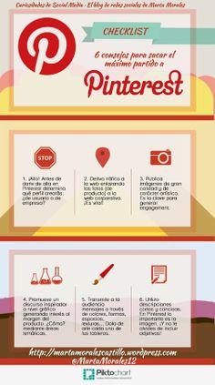 #Infografía6 consejos para sacar el máximo partido a #Pinterest