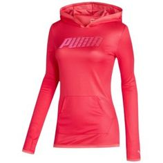 PUMA Performance Hoodie Cover Up - Women's - Sport Inspired - Clothing - Teaberry