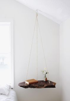 Style hangs in the balance with this suspended-slab side table project from @themerrythought. #DIY
