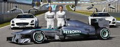 Mercedes HD pictures of the Mercedes It was unveiled on the of Februari 2013 by Lewis Hamilton and Nico Rosberg at the Jerez circuit. Mercedes Amg, Nico Rosberg, F1 News, Auto News, F1 2013, Amg Petronas, Formula 1 Car, F1 Racing, Urban