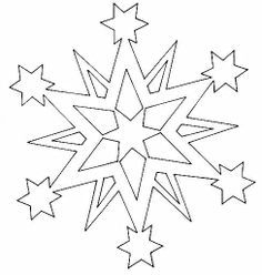 christmas stars paper cutting templates - Google Search