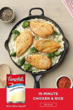 Campbells Soup Recipes, Health Dinner, Cooking Recipes, Healthy Recipes, Diet Recipes, Healthy Food, Recipies, Pasta, Quick Meals