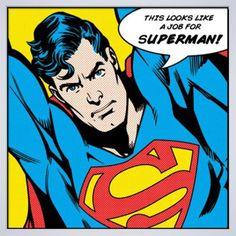 Superman (Looks Like A Job For) Art Print by DC Comics Easyart.com