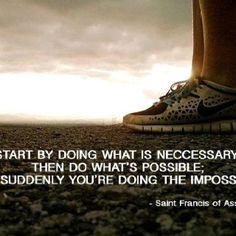 Every journey begins with a first step ...