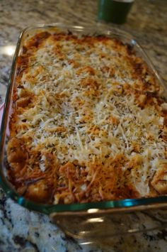 Chicken Parmesan Casserole- So this recipe was really good. I stayed true to the recipe but instead of croutons, I used bread crumbs. Still came out yummy!