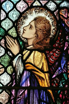 Stained Glass window in Galway, Ireland tjn Stained Glass Church, Stained Glass Angel, Stained Glass Windows, Mosaic Art, Mosaic Glass, I Believe In Angels, Church Windows, Leaded Glass, Kirchen