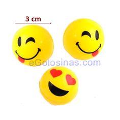PELOTAS DE GOMA EMOJI o EMOTICONOS 3uds Son 3 pelotas de color amarillo de  goma saltarinas 8fe023d9c0ef9