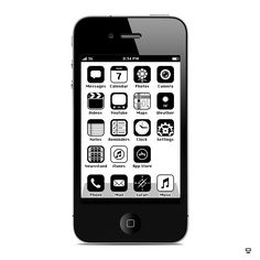 Spectacular iPhone 4 iOS Blended with 1986 System Software 3.0 Icons