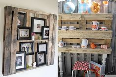 Front room ideas...Pallet Shelving