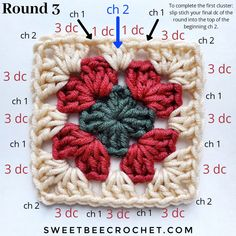 This tutorial is geared to those new to crochet or to anyone needing a refresher. It includes both written and photo walk-throughs to help guide you along. Crochet Granny Square Beginner, Point Granny Au Crochet, Granny Square Häkelanleitung, Granny Square Pattern Free, Granny Square Tutorial, Granny Square Crochet Pattern, Crochet Squares, Crochet Blanket Patterns, Crochet Circles
