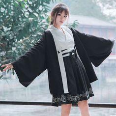 Online Shop Japanese Style Bushido Haori Kimono Dress for Women Traditional Japan Clothing Asian Clothes Robe Lolita Kawaii Girls Yukata Southern Style Clothes, Indian Style Clothes, Bohemian Style Clothing, Asian Clothes, Country Style, Yukata, California Style Outfits, Island Style Clothing, Bushido