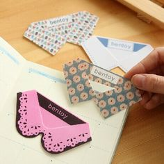 Items similar to New arrival 1 PCS Plastic Cute Collar Shape Paper Clips,Bookmark,korean stationery-Four Design For Choose on Etsy Creative Bookmarks, Cute Bookmarks, Corner Bookmarks, Creative Gifts, Creative People, Paper Bookmarks, Creative Products, Ribbon Bookmarks, Diy And Crafts