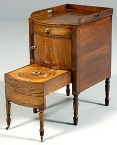 antique wood chamber pots | ... COMPLETE Antique Wood Bedside ...