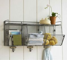 This Three-Bin Wire Shelf ($170) is simple, but it's a great option. Hold supplies for my coffee bar.