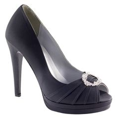 Black Dyeables Gianna Bridal Shoes
