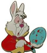 disney white rabbit collector's pin