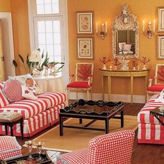 coral chairs and accents.....nice