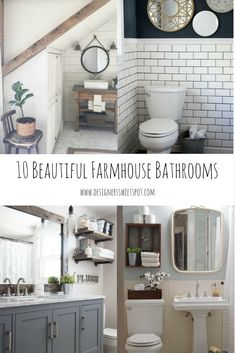 10 Beautiful Farmhouse Bathrooms|Designers Sweet Spot|www.designerssweetspot.com