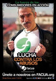 Sergio Pazos, socio de FACUA nº 48.212, llama a los consumidores a la lucha contra los abusos