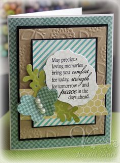 Sympathy card by Jen del Muro using Verve Stamps.