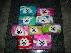 Handmade Felted Soaps with a Needle Felted Samoyed on by Elizabeth Chamberlain