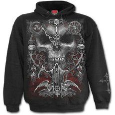 Daily Goth Kapuzenpullover - Sands of Death Metal Style, Black Denim Pants, Gothic Fashion, Mens Fashion, Skinny Biker Jeans, Slim Fit Pants, Cool Hoodies, Gothic Outfits, Sweater Fashion