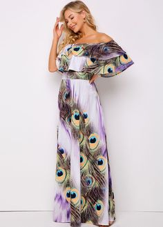 ROTITA Spaghetti Strap Peacock Feathers Print Dress transforming dresses, classy bridesmaids dresses, belk dresses #dressesinlekki #dresseslounge #dressesfornights, dried orange slices, yule decorations, scandinavian christmas Cute Dresses For Party, Girls Formal Dresses, Pretty Dresses, Beautiful Dresses, Classy Bridesmaid Dresses, Wedding Dresses, Thanksgiving Dressing, Dress Outfits, Dresses Dresses