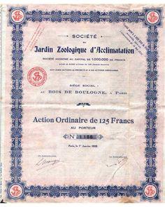 Société du Jarduin Zoologique d'Acclimatation du Bois de Boulogne