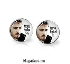 Captain Hook Studs Silver Plated Stud Earrings 12mm Once upon a Time Fandom Jewelry Colin O'Donoghue