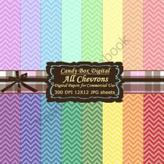Monochromatic Chevron Digital Background Papers from Candy Box Digital on TeachersNotebook.com -  (16 pages)  - Chevrons, one of the hottest trends!