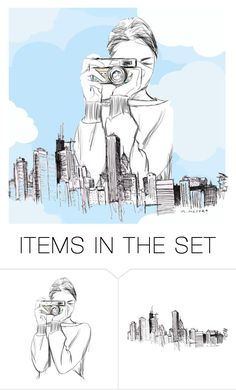 """City In The Sky"" by em-ro ❤ liked on Polyvore featuring art"