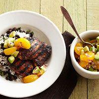 Jerk Chicken with Avocado-Orange Salsa Recipe