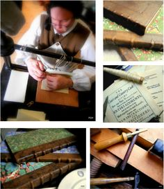beautiful handmade books created in the 18th century style; every attention to detail <3