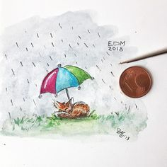 A tiny little drawing made by me (mi-ja-ma) with Watercolours.