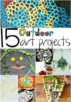 Create some beautiful art in the great outdoors with these 15 outdoor art projects for kids! There are so many wonderful art materials waiting just...