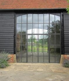 Aesthetic, conservation and planning requirements can make the introduction of glazing into barn conversions difficult but steel windows sup. Barn Conversion Exterior, Barn House Conversion, Barn Conversions, Barn Windows, Steel Windows, Contemporary Barn, Modern Barn, Crittal Doors, Crittall Windows