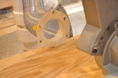 Home Health | How To Make a Compound Mitre Saw Dust Hood // oneprojectcloser.com