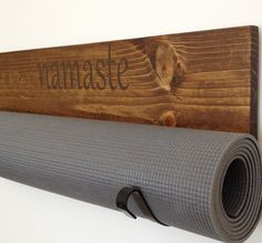 Personalized Yoga mat holders are a perfect addition to your quiet space. The wood is cut, sanded, prestained, stained and then sealed, creating a very - Yoga Slim Burn Handmade Home Decor, Handmade Furniture, Etsy Handmade, Sala Yoga, Deco Zen, Deco Cool, Zen Space, Zen Room, Home Yoga Room