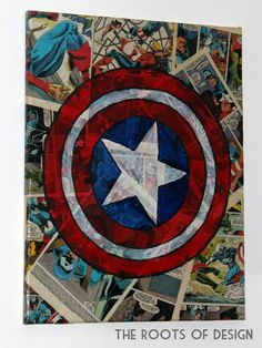 The Roots of Design: Comic Book Mix Media Art- those poor comic books! I do like how it looks though.